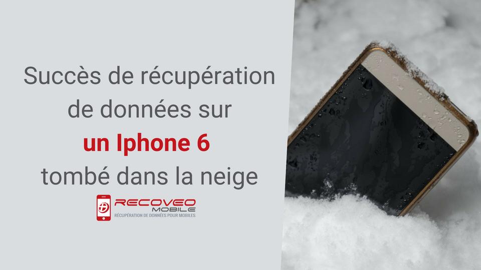 Récupération-données-sur- iphone-6-tombé-neige